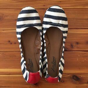Lucky Brand Striped Ballet Flats